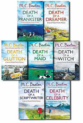 M.C. Beaton Hamish Macbeth Murder Mystery Series Two Collection 7 Books Set