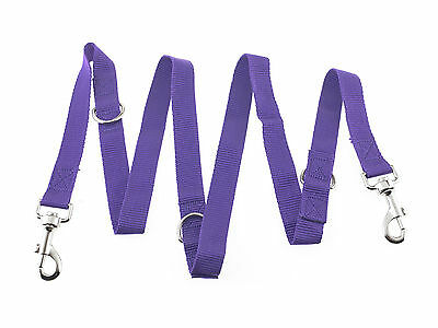 Police Style Control Dog Lead 6 Way Adjustable Training Lead Double Ended