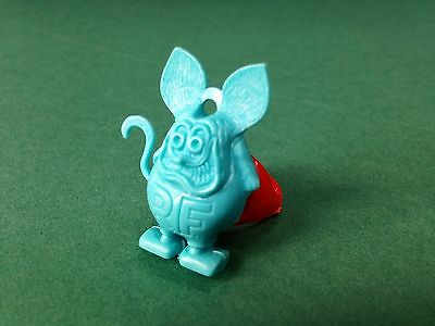 Vtg 60's RAT FINK Charm Ring Gumball Machine Prize NOS EXCELLENT Roth Turquoise
