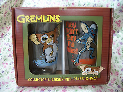 New Gremlins Gizmo Spike  2Ct Pint Glass Set