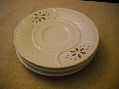Hand Made In Italy White Pizzato Saucers