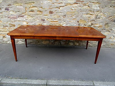FRENCH CHERRY EXTENDING DINING TABLE TWO LEAVES ANTIQUE FINISH