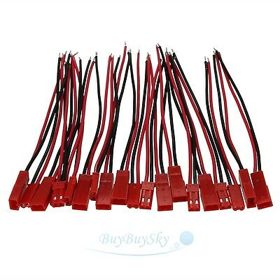 20pcs Battery Plug JST RC Model Socket Connector Cable Wire Male Female 10 Pairs