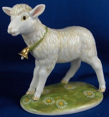 Rare Art Nouveau Nymphenburg Porcelain Lamb Sheep Figurine Porzellan Schaf Figur
