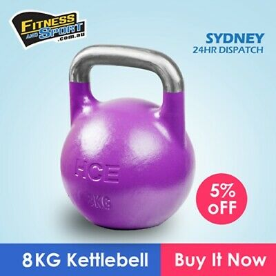 NEW Competition Kettlebell 8KG Fitness Gym Strength Exercise Training Equipment