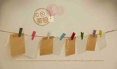 Free Shipping 10pcs Sample Natural Color Empty Drawstring Filter Paper Tea Bags