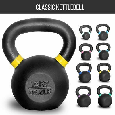 Set of 8 12 16Kg Russian Classic Steel Kettlebell Gym Strength Building Workout