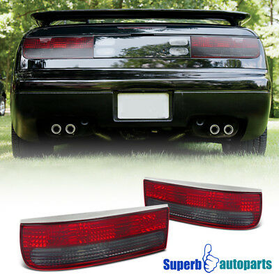 For 1990-1996 300ZX Z32 Red & Smoke Lens Tail Lights Brake Lamps