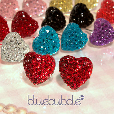 FUNKY SMALL VINTAGE 10mm HEART EARRINGS WEDDING FAVOUR CUTE BRIDESMAID PROM GIRL