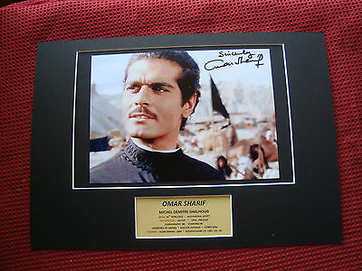 Omar Sharif Actor & Performer Genuine Hand Signed A3 Mounted Photo Display - Coa