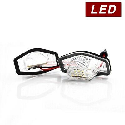 2x Fits Honda Number Plate Bulb Holder Assembly Bright LED Light Lamps Upgrade