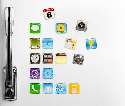 18 iPhone Fridge Magnets APP Apple Apps Icon Whiteboard Refrigerator Memo Magnet