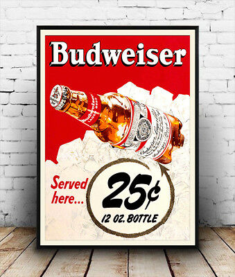Budweiser Beer vintage-1961 poster reproduction.