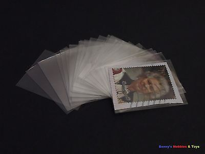 100pcs Philately Stamp Sleeves Protective Transparent OPP Pocket 45mm x 35mm