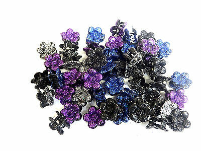 Wholesale Job Lot Boxed Hair Clips Glittery Floral Brand New Unique (Uw1)