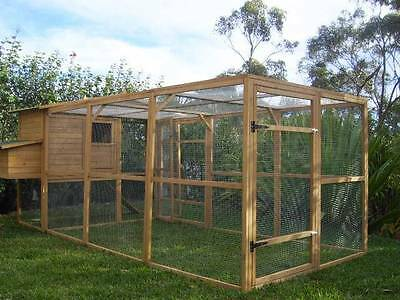 Chicken Coop Cat Enclosure Somerzby Manor + Large Run Rabbit Hutch cage house