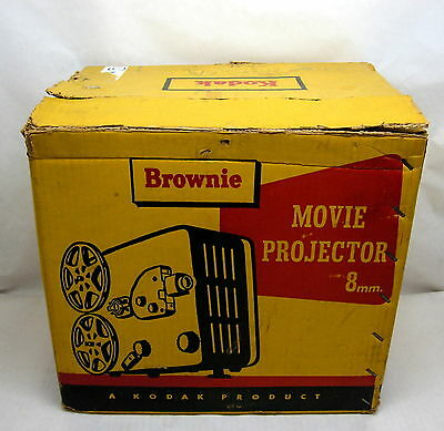 Vintage Kodak Brownie 8mm Model 1 Movie Projector Bulb and Spindles Work Fine