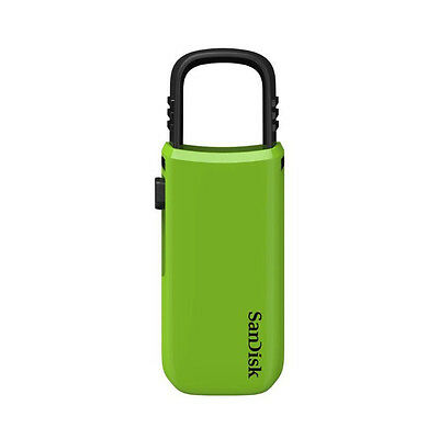 SanDisk 8GB Cruzer CZ59 Flash Drive Memory Stick Key Thumb Disk Thumb Key Green