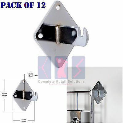 12x GRIDWALL/ GRID WALL MESH CHROME SHOP DISPLAY PANEL - ACCESSORY: WALL BRACKET