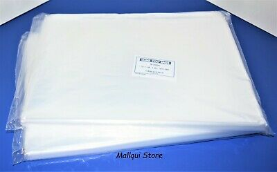 200 CLEAR 12 x 18 POLY BAGS 1 MIL PLASTIC FLAT OPEN TOP