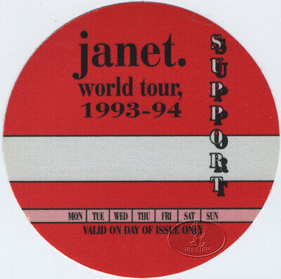 JANET JACKSON 1993-94 Backstage Pass Support