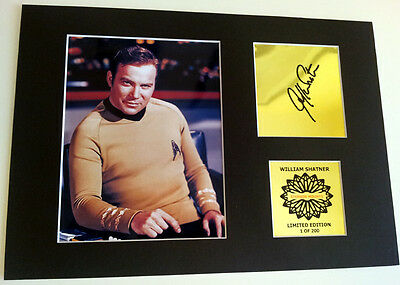 William Shatner Captain Kirk mounted quality signed print 12 x  8 in