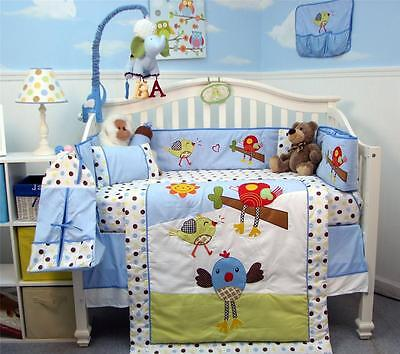SoHo Chicken Little Party Baby Crib Bedding 13 pcs Set included Diaper Bag