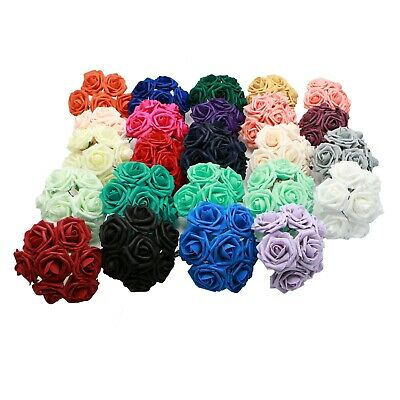 """100PCS Fake Flowers Artificial Roses 3"""" For Bouquet Wedding Table Centerpieces"""