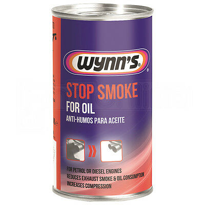 Wynns Stop Smoke Oil Additive Petrol & Diesel Engines Reduce Exhaust Smoke 325ml