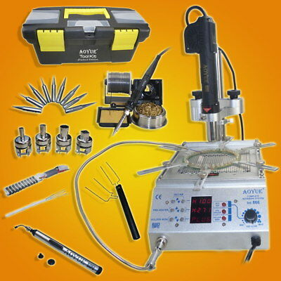 AOYUE 866 All in 1 SMD/SMT Hot Air Rework & Soldering Station with Pre-heater