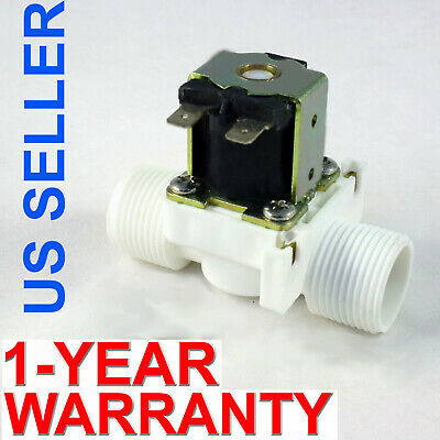 3/4 inch NPS Thread 110V-120V AC Plastic Nylon Solenoid Valve ONE-YEAR WARRANTY