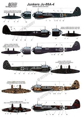 Authentic Decals 1/72 Junkers Ju-88A-4