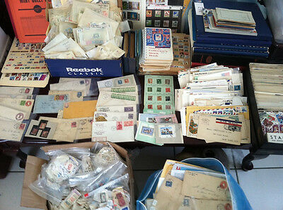 Huge US and World Stamp Collection 1800s-1900s Covers FDCs Mint Used *550+ Items