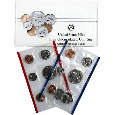 1988 P and D US Mint Uncirculated Coin Set