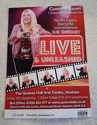SUE SWEENEY Tour/Concert Flyer Stand-Up Comedy Queen's Hall Arts Centre Hexham