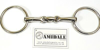 Loose Ring Lozenge Fat Link Stainless Steel Snaffle Horse Bit  Bnwt From Amidale