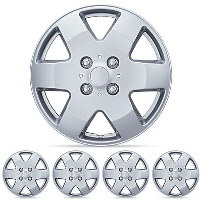"4 PC Set 14"" Silver Hubcaps Wheel Cover OEM Replacement Cover Cap Skin"