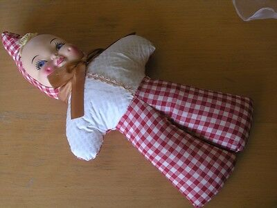 Great Vintage Mask Face Baby Kewpie Elf Puck Imp Doll 15 Inches Character