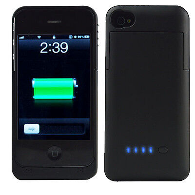 3200mAh Backup External Battery Power Bank Case Cover Charger for iPhone 4 4G 4S