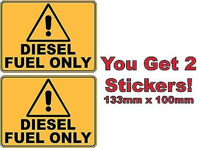 Two Caution Diesel Only Stickers Sign Decal Public Safety WH&S OHS