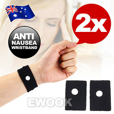 OZ F 2X Travel Anti Nausea Sea Sickness Bands Plane Car Sick Wristbands