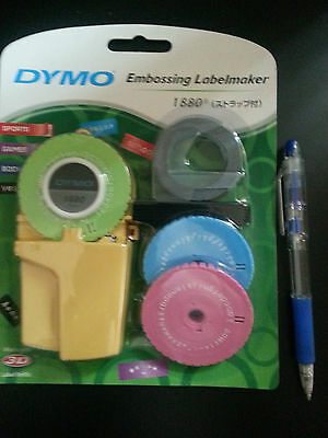 Dymo Embossing Labelmaker #1880 with 1 dymo tape & 2 template** Free-Shipment