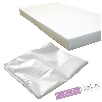 Waterproof Baby COT MATTRESS Fully Breathable 120 X 60 X 5CM Cover Only