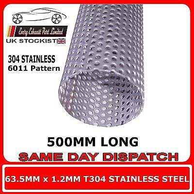 """54mm 2 1//8/""""inch x 250mm 304 stainless steel 1.5mm wall tube pipe exhaust repair"""