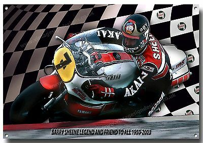 Barry Sheene Metal Sign,british Motor Cycle Racing,iconic Rider.