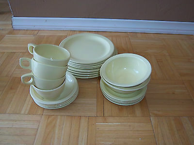 VINTAGE 22 Pieces of Melmac Dishes ***CHARMING*** Pale Yellow