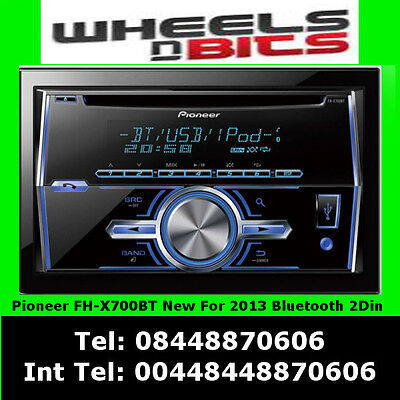 Pioneer FH-x700BT 2/Din Car Stereo CD/MP3/USB AUX Bluetooth iPod iPhone Android
