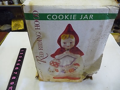 Little Red Riding Hood Cookie Jar--BOX HAS BEEN WET AND IS ROUGH BUT ITEM IS NEW