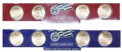 2009 8-Coin P&D Lincoln Bicentennial 95% Copper Coins from US Mint Set