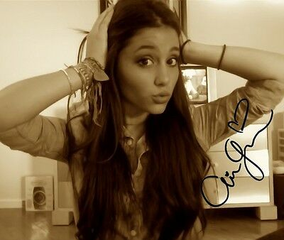 ARIANA GRANDE SIGNED PHOTO 8X10 RP AUTOGRAPHED PICTURE